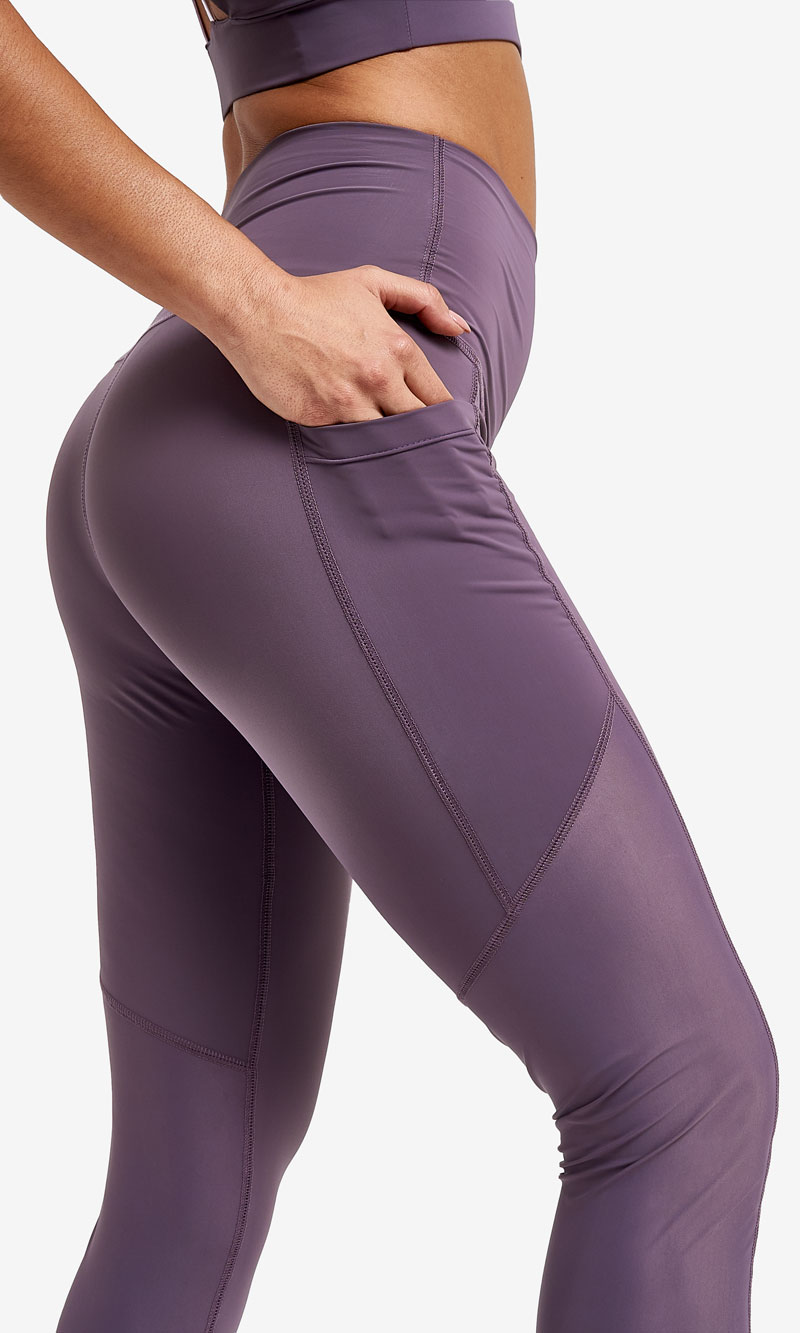Legging Misty Purple violeta antibacteriano