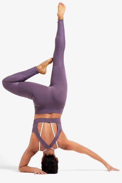 Legging Misty Purple tejido sostenible