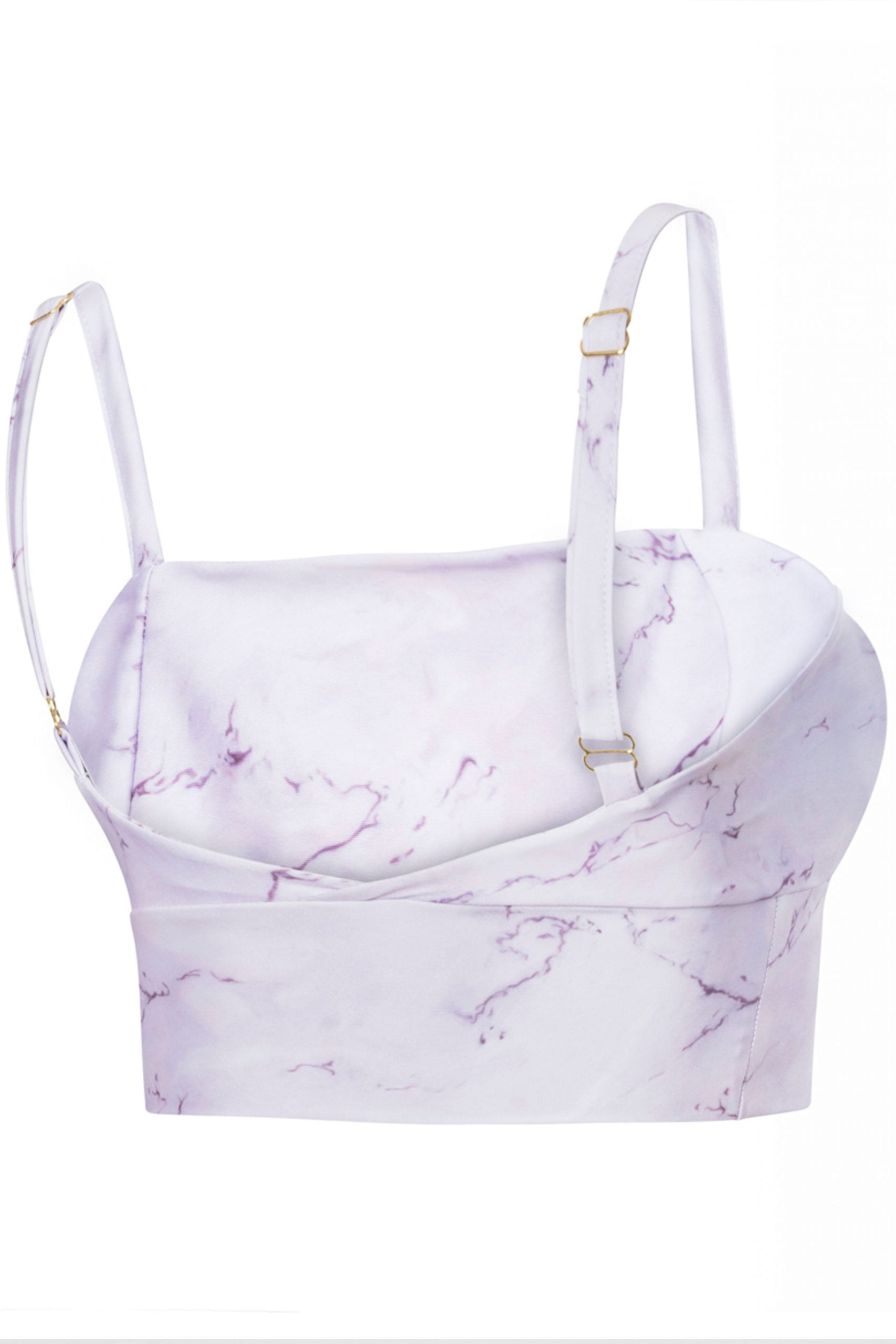 Crop top deportivo pilates marble print